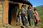 Chief Mathais and his men near Rondavel in Lesotho