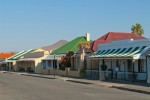 Brightly coloured cottages in Craddock Eastern Cape South Africa