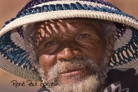 Basotho Man in Morokhotlo Hat