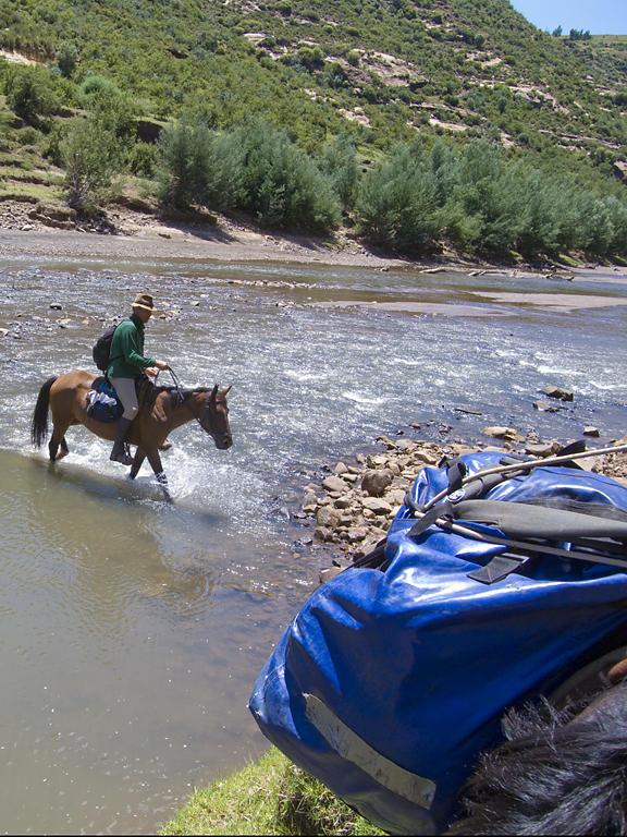 Crossing Makhaleng River