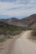 Sand and Gravel road through Karoo